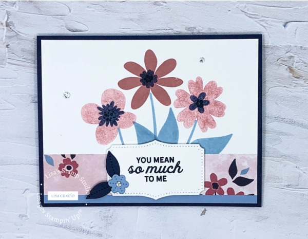 Make a handmade card with stamped floral images that are bold