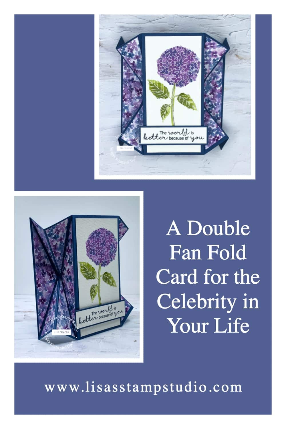 A double fan fold card for the celebrity in your life pinterest idea.