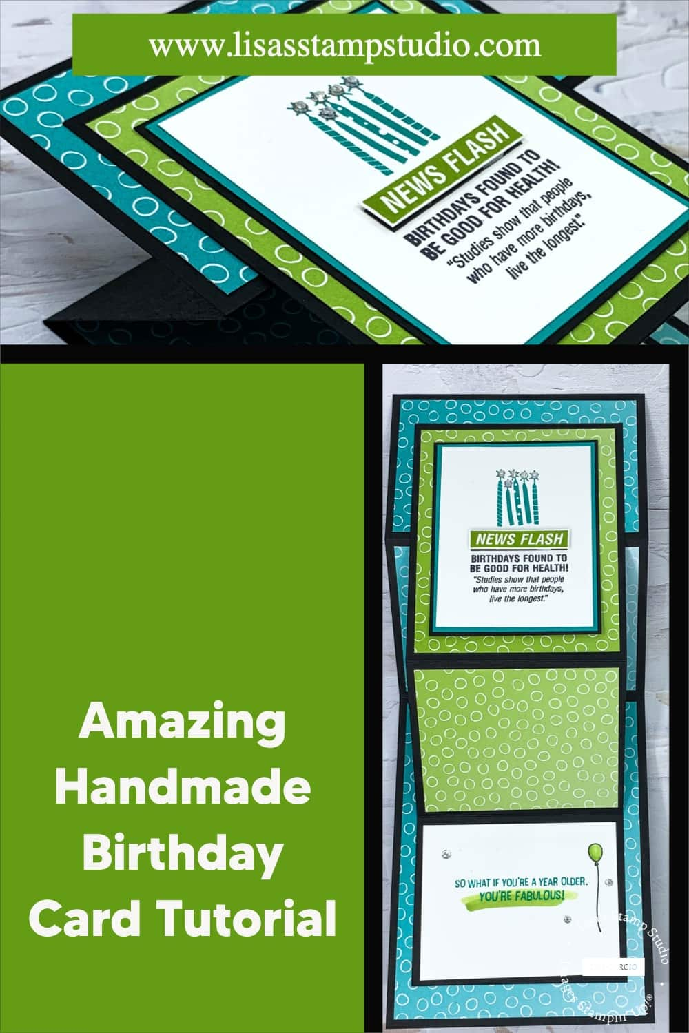 Save this amazing handmade birthday card to your pinterest board