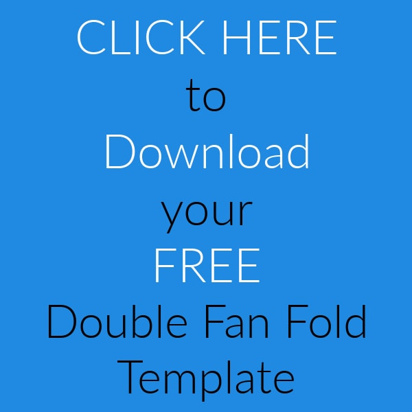 Double fan fold template to download for free.