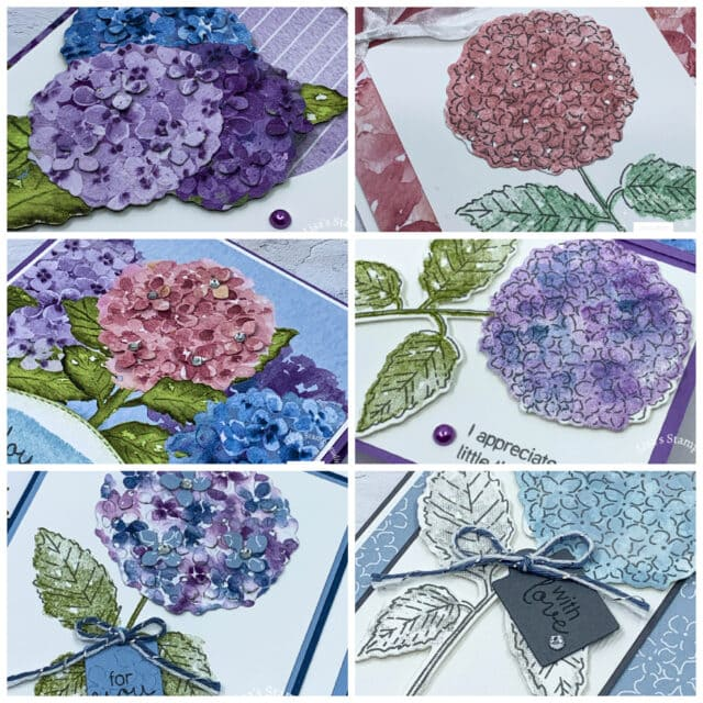 Stampin' Up! Hydrangea Haven Card Making class by Lisa's stamp studio