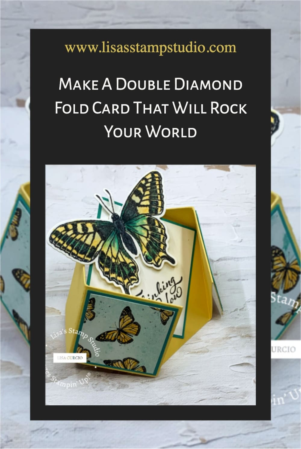 Save this double diamond fold card to your Pinterest board for future reference.