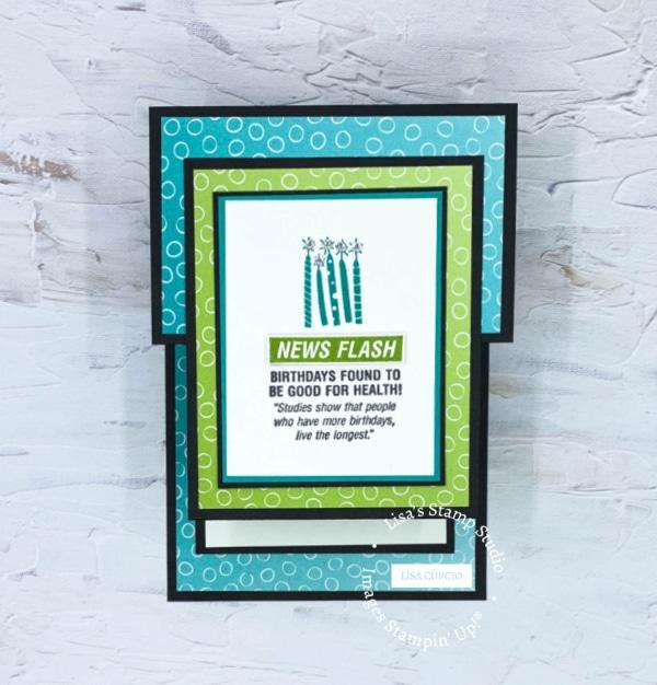 News Flash; you can create this amazing handmade birthday card so easily