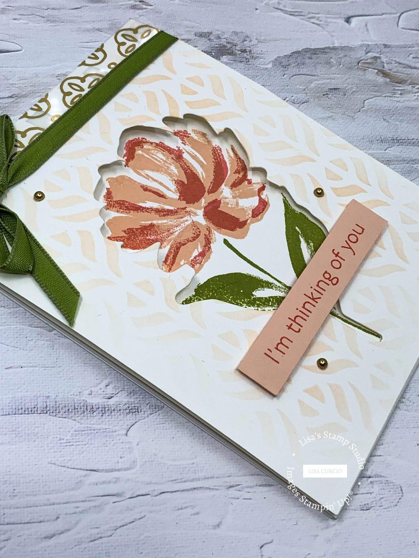 Thinking of you Tri-Fold Window Card