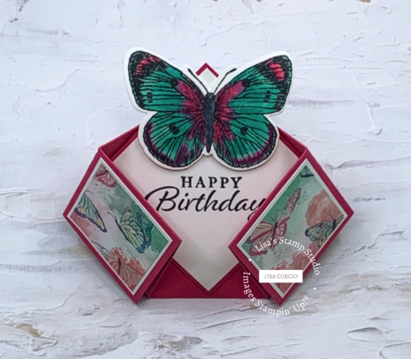 This unique fancy fold card is perfect as a special birthday card