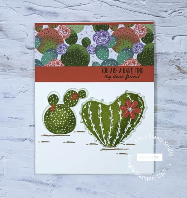 This tri-fold window card would be perfect for a friend.