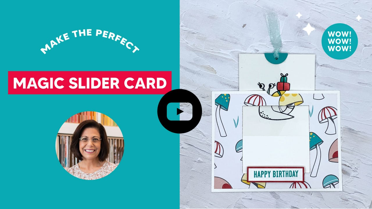 Make the perfect slider card in this video tutorial