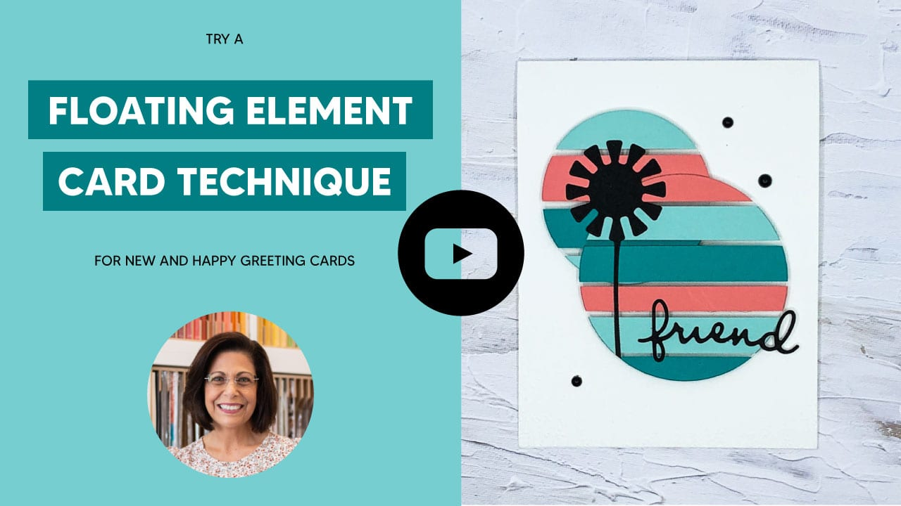 Watch this video tutorial to learn a floating element card technique that is creative.