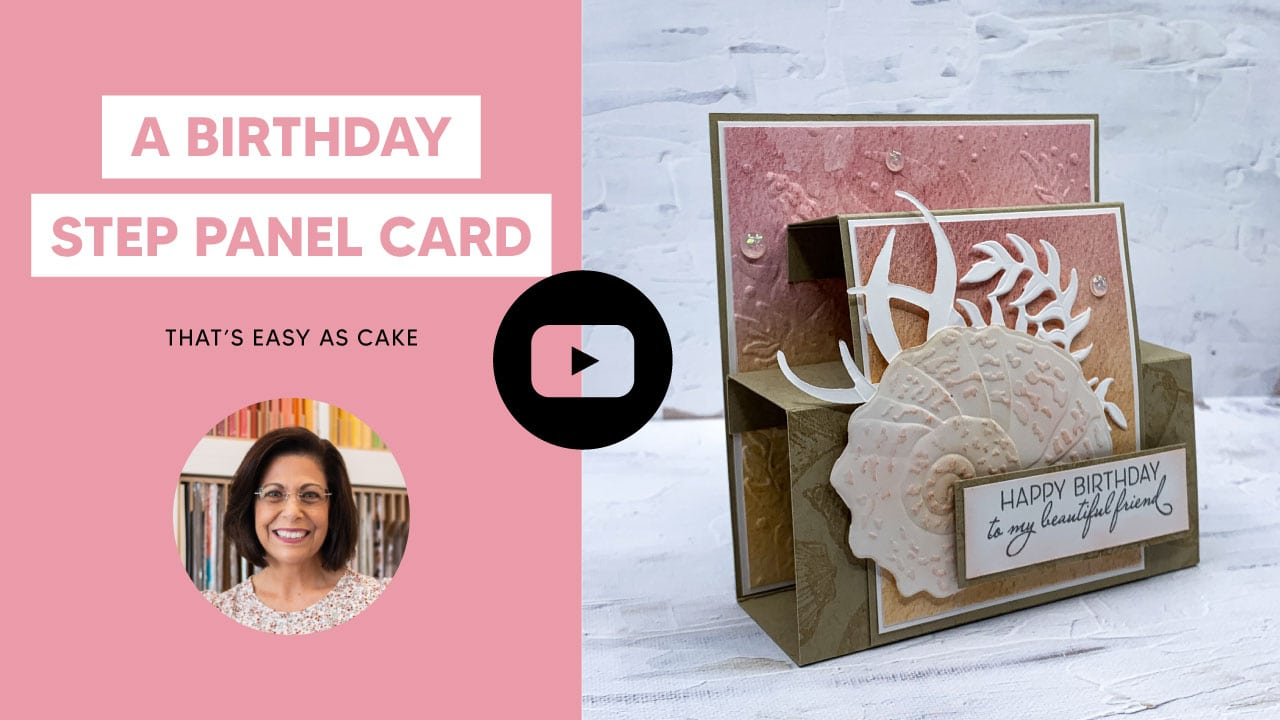 In this video https://youtu.be/3sKaId64C48 you will learn how to make a step panel card.