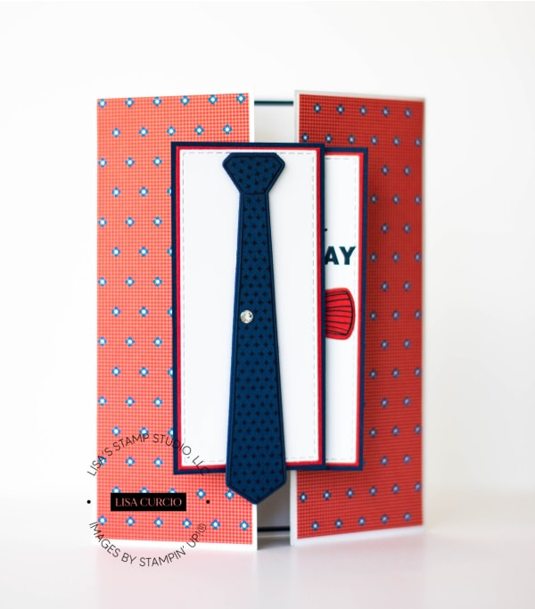 This surprise gate fold card is perfect as a Father's Day Card