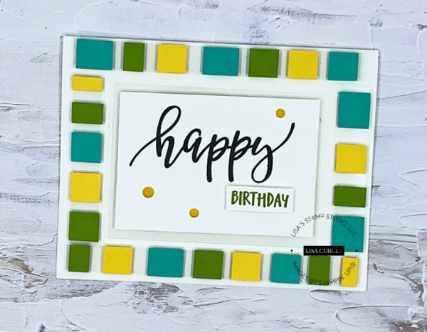 The floating element card technique makes a super fun birthday card.