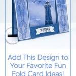 Pinterest pin image for a nautical fun fold card