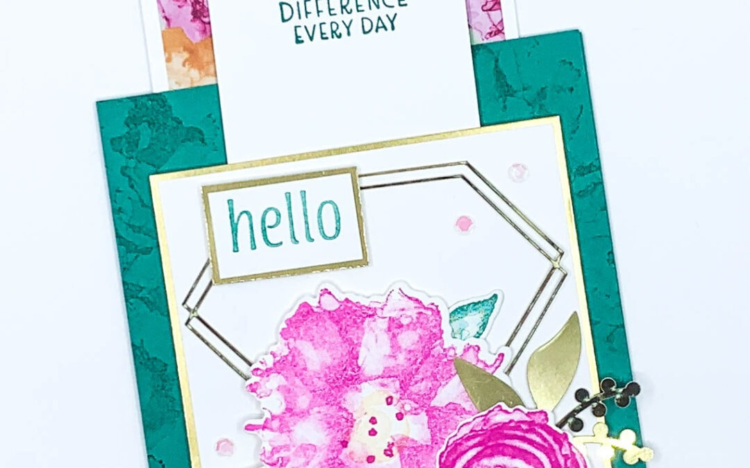 Learn How to Make a Beautiful Fun Fold Card with Lisa's Stamp Studio!