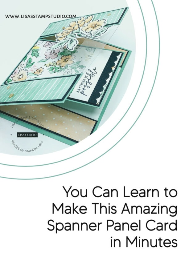 Pinterest image for spanner card with floral images