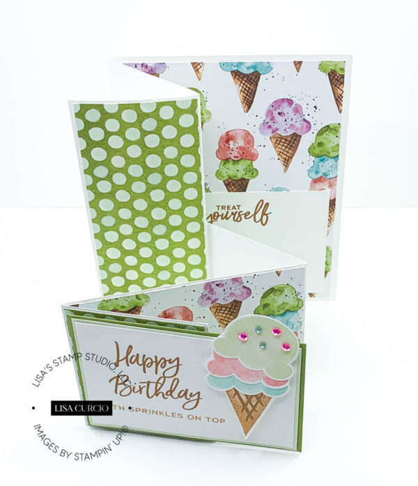 How to Make a Fun Sweet Ice Cream Bundle Pop Out Card