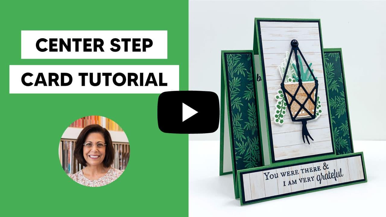 center step card tutorial