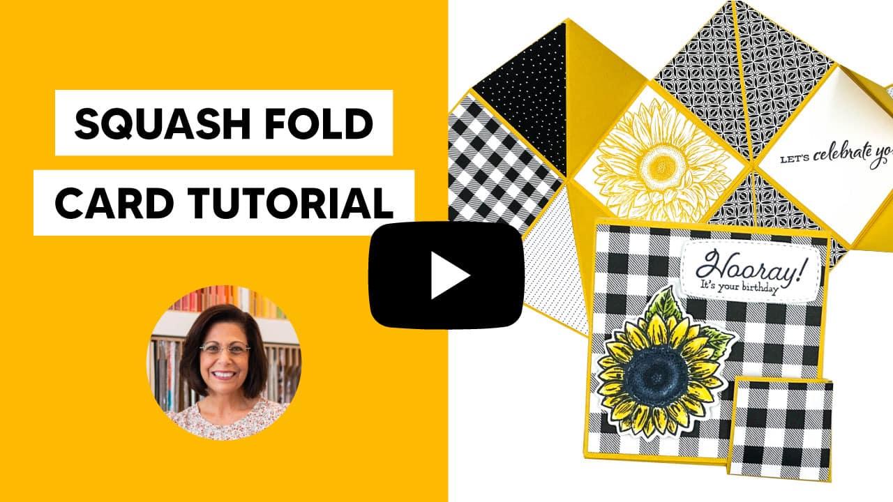 squash fun fold card tutorial