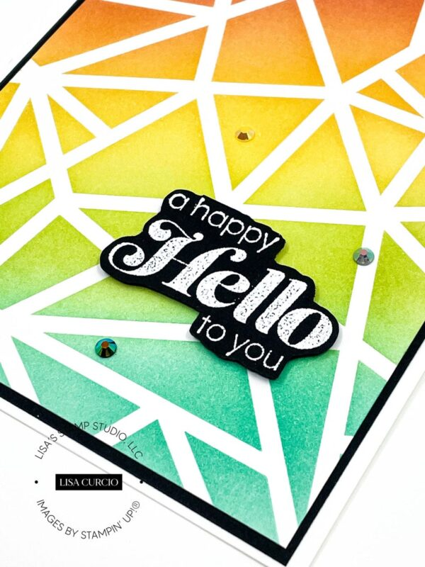 stenciling cards step by step
