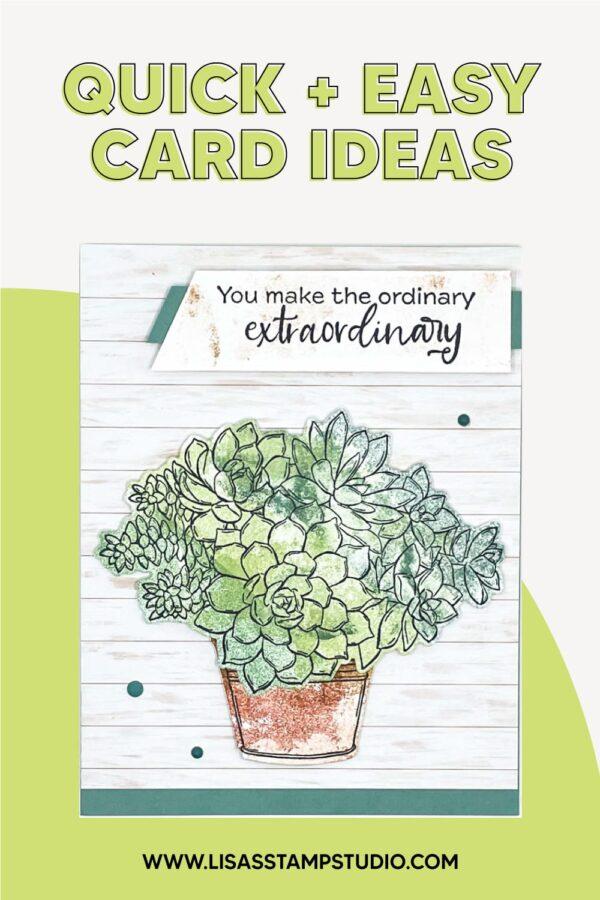 4 Quick & Easy Handmade Card Ideas