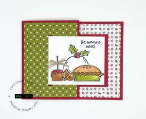 New Handmade Christmas Card with Buckle Fold